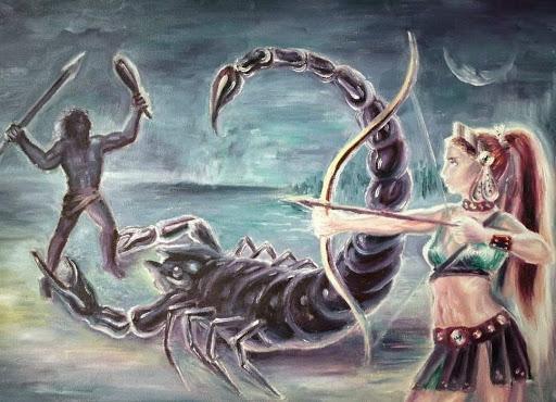 Sự tích chòm sao Orion và chòm sao bọ cạp hay chuyện tình Orion và nữ thần  Artemis - Thần thoại Hy Lạp