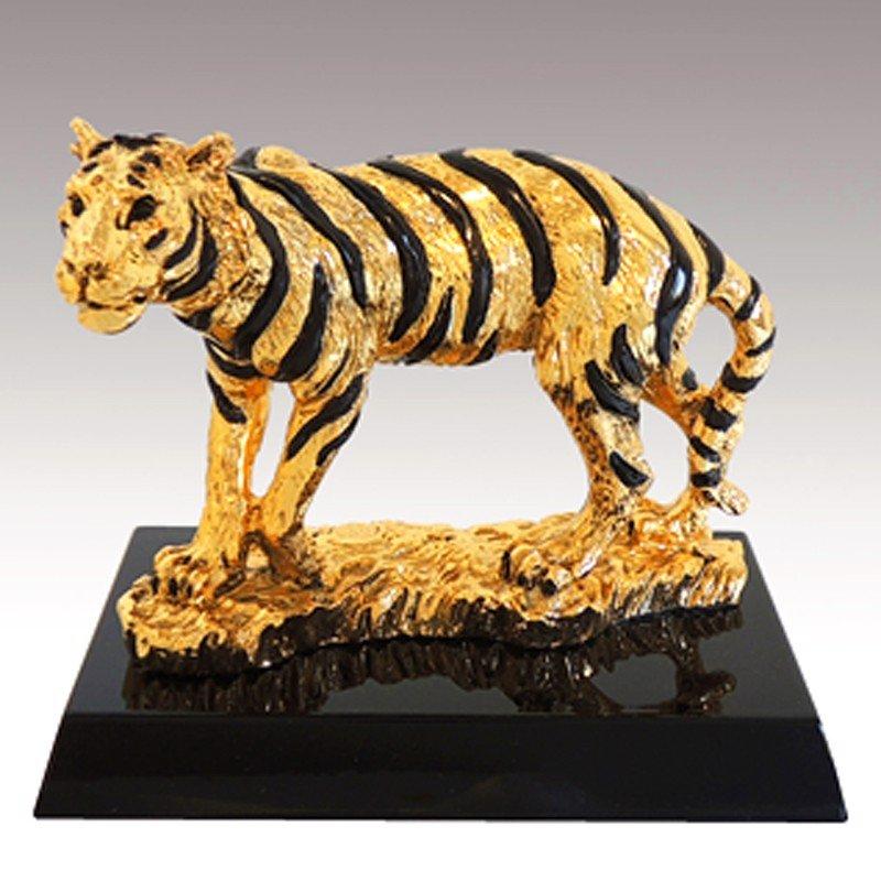 Tượng Hổ Mạ Vàng 24K Gold Line Italia – Alan.vn
