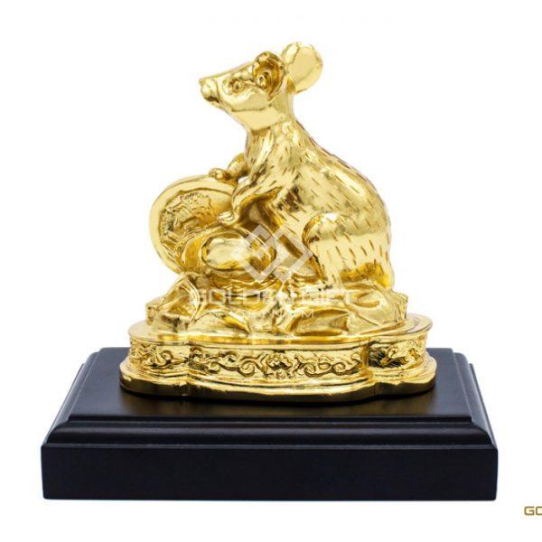 Tượng Chuột Phong Thủy Mạ Vàng – 12CGC Táo Vàng Mobile