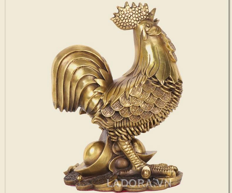 Tượng con gà trống tài lộc (DD023 ) - Gà trống phong thủy trang trí