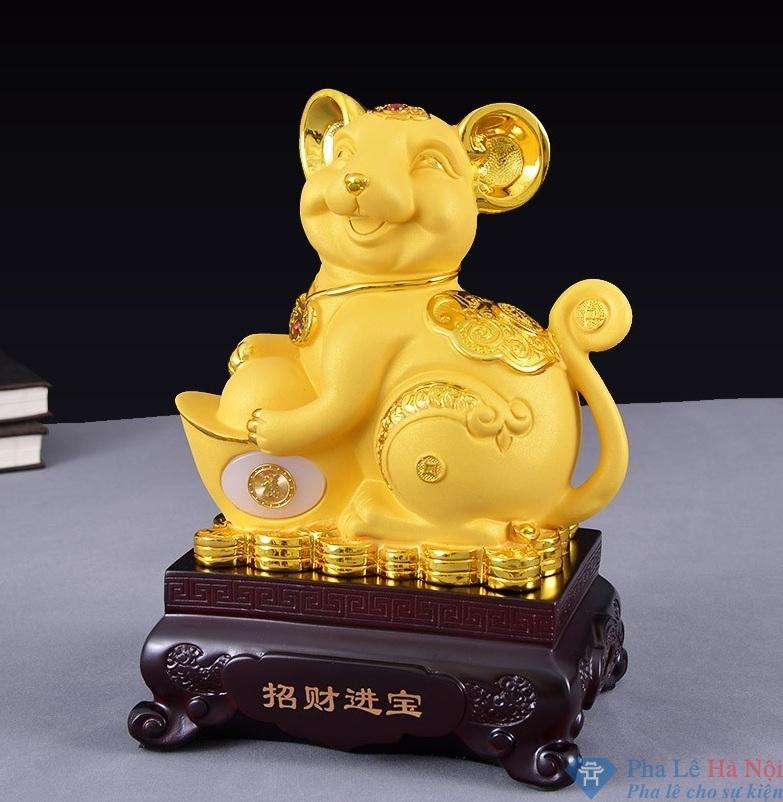 Linh vật Chuột Vàng số 7 - Pha Lê Hà Nội