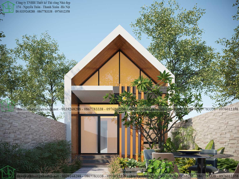 Thiết kế mẫu nhà cấp 4 5x25m có 2 phòng ngủ NDNC4150 - Thiết kế Thi công Nhà  đẹp