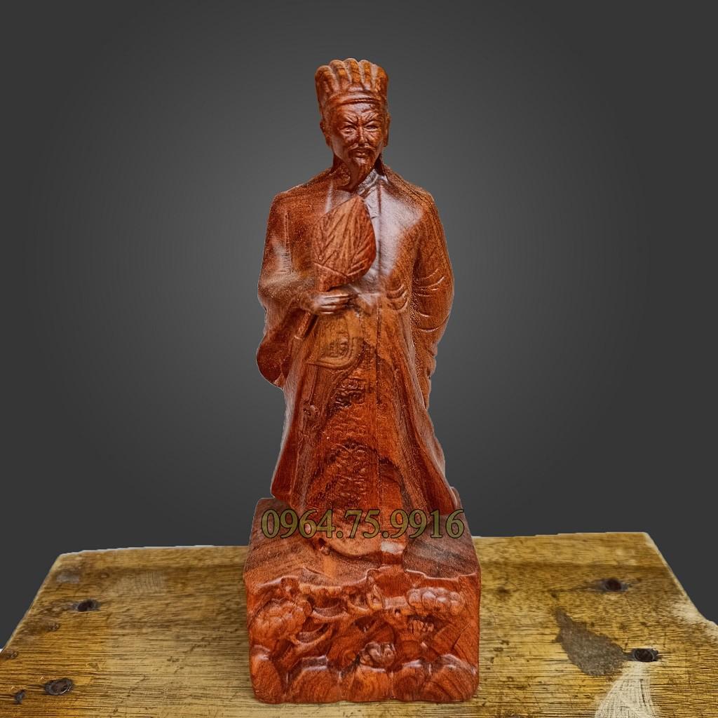 Vài nét về tượng gỗ Gia Cát Lượng trong phong thủy